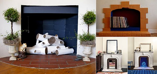 Five creative ideas to revitalize your unused fireplace Fireplace ideas no fire