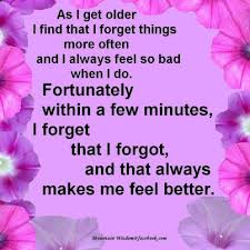 I forget things!