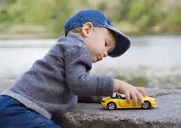 playing with car